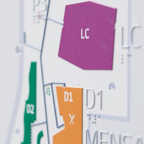 WU Wien Taktiles Leitsystem im Detail