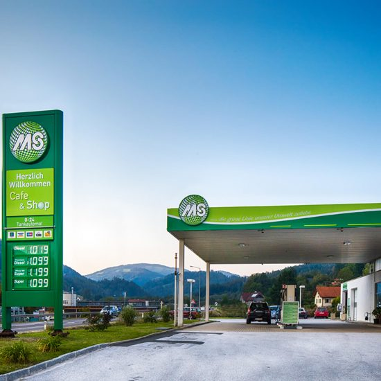 MS Tankstelle Weiz Lichtsystem